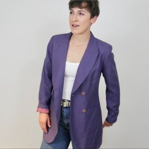 Vintage Purple Double Breasted Blazer